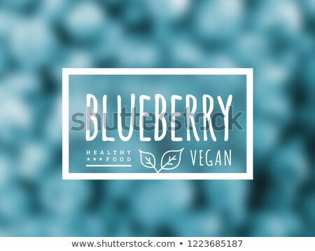 Blueberry background and label on it. Environmentally friendly product good for health. Vector Stock photo © m_pavlov