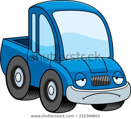 Sad Cartoon Pickup Truck Stock photo © cthoman