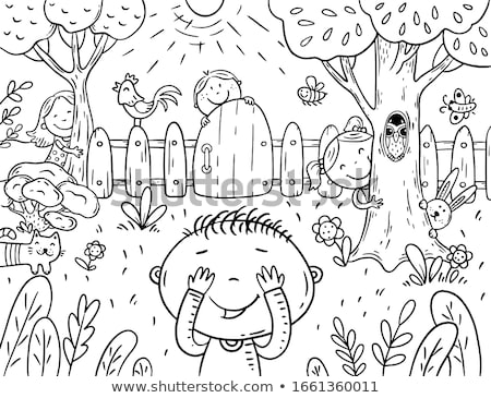 Children Playing Hide and Seek Illustration Stock photo © artisticco