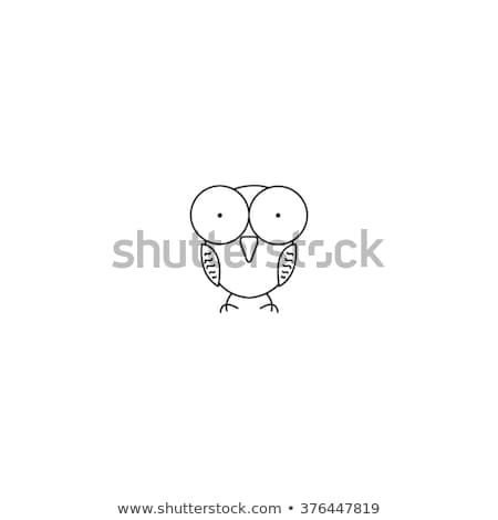 Icon of cute owl with big eyes, forest animal Stock photo © MarySan