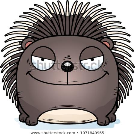 Cartoon хитрый иллюстрация молодые животного улыбаясь Сток-фото © cthoman
