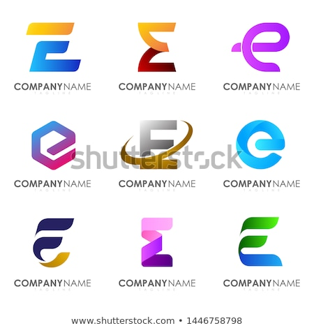 purple e logo vector symbol letter e icon stock photo © blaskorizov