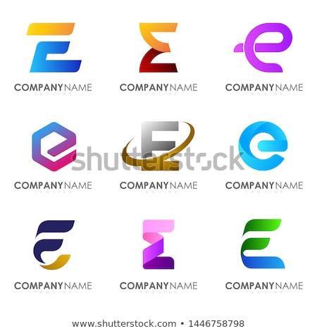 purple e logo vector symbol letter e icon Stock photo © blaskorizov
