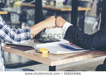parceiros · de · negócios · escritório · negócio · mulher · homem · feliz - foto stock © Minervastock