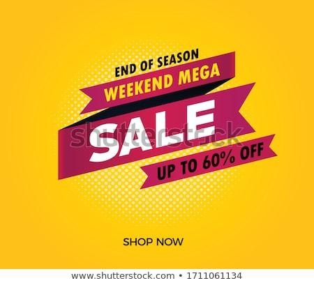 wspaniały · sprzedaży · plakat · gradient · moda - zdjęcia stock © robuart