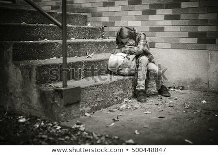 Elsődleges diák iskola lány gyermek szomorú Stock fotó © Lopolo