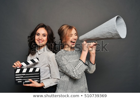 two women inform about the beginning of shooting Stock photo © ruslanshramko