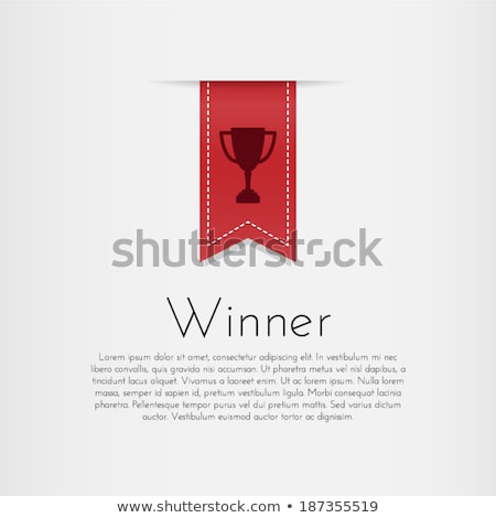 Red Award Ribbon Vector. Winner Badge. Ceremony Design. Poster, Card, Flyer. 3D Realistic Illustrati Stock photo © pikepicture