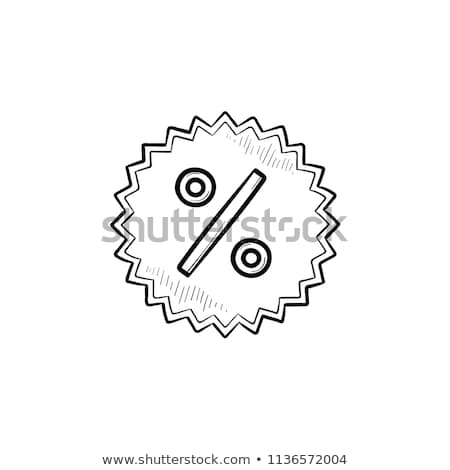 Star with percentage sign hand drawn outline doodle icon. Stock photo © RAStudio