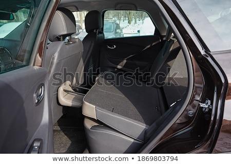 新しい車 クリーン 車 インテリア 黒 ストックフォト © ruslanshramko