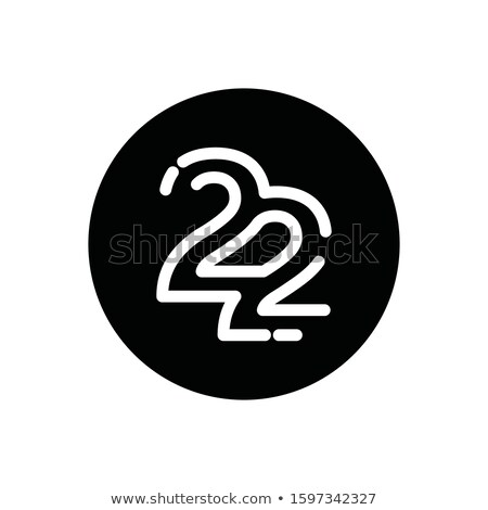 number twenty two 22 icon logo vector element Stock photo © blaskorizov