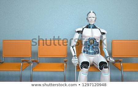 humanoid robot waiting room stock photo © limbi007