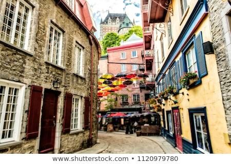 Guarda-chuvas rua Quebec cidade Canadá fundo Foto stock © Lopolo