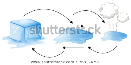 Diagram showing how water changes forms Stock photo © colematt