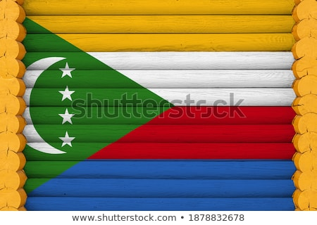 House with flag of comoros Stock photo © MikhailMishchenko