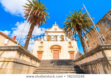 Historic church in Milna on Brac island stock photo © xbrchx