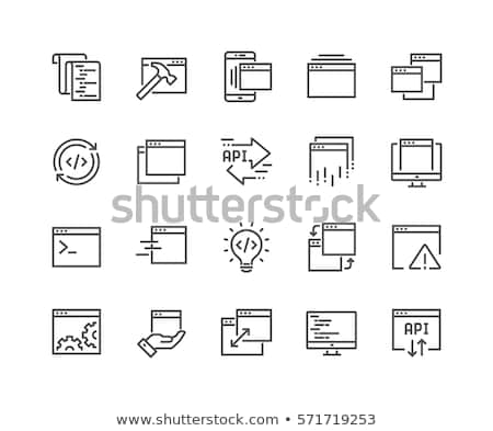 Flat design icon of Hands expander Stock photo © angelp