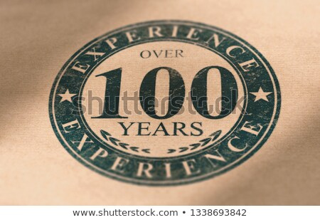 Old Company Label, Over 100 Years of Experience in Business. Stock photo © olivier_le_moal