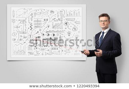 Profesor nauczania gospodarki laserowe działalności Zdjęcia stock © ra2studio