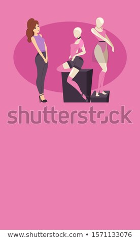 Shopping Poster New Collection T-shirts and Shorts Stock photo © robuart