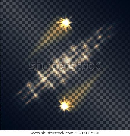 aislado · dorado · llamarada · transparente · vector · luz - foto stock © robuart