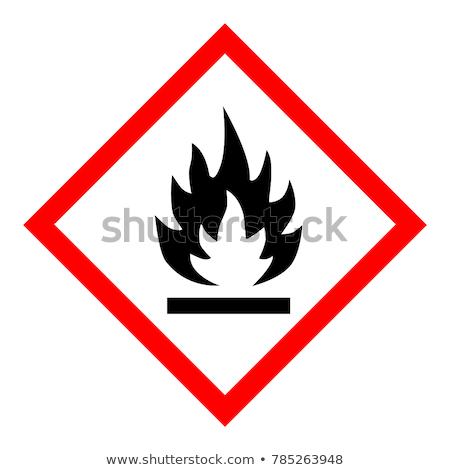 легковоспламеняющийся икона цвета дизайна безопасности промышленности Сток-фото © angelp