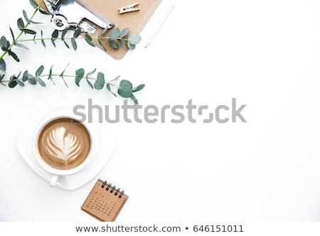 Flat lay home office workspace Photo stock © neirfy