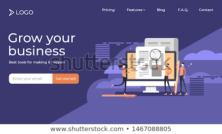 Stockfoto: Sales funnel management landing page template.