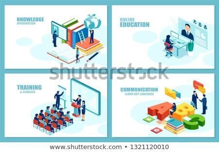 obcy · język · warsztaty · studentów · dynamiczny - zdjęcia stock © genestro