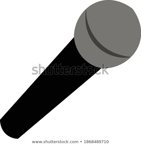 Microphone with Black Handle, Karaoke Sign Icon Stock photo © robuart