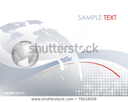 Dotted gradient USA map for backgrounds, brochures web. vector illustration isolated on white backgr Stock photo © kyryloff