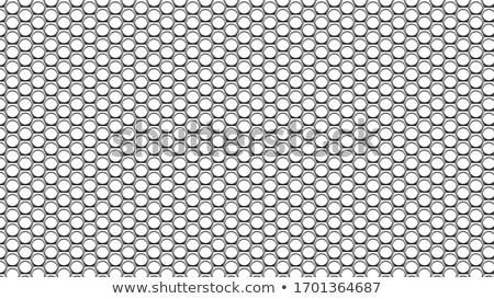 Blanco hexágono estructura gris centro cubrir Foto stock © limbi007