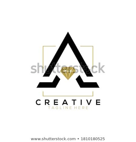 Elmas takı logo tasarımı vektör şablon örnek Stok fotoğraf © kyryloff