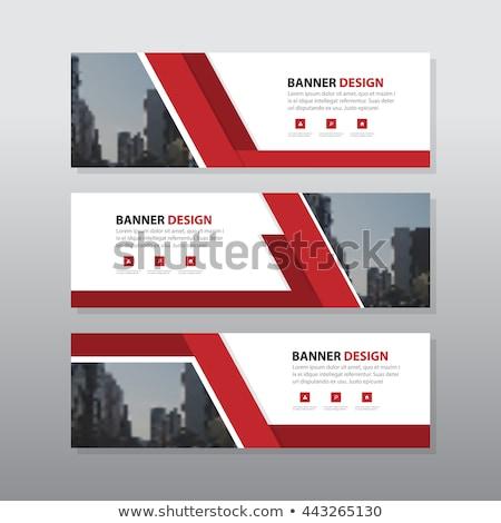 Ingesteld drie business banners horizontaal sjablonen Stockfoto © SwillSkill