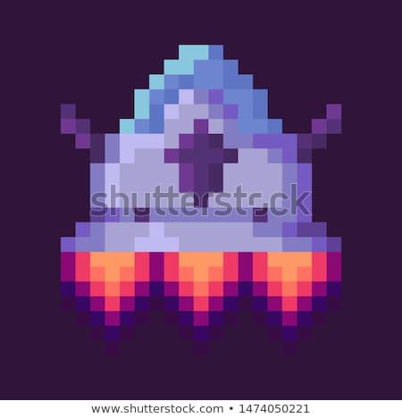 Guerre vaisseau spatial pixel cosmique équipement vecteur Photo stock © robuart