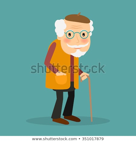 Grandpa with walking stick image 1 Stock photo © clairev