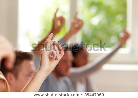 Diákok osztály kezek válasz kérdés összes Stock fotó © Kzenon