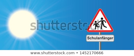 Schulanfang Warning Triangle Children Stock photo © limbi007