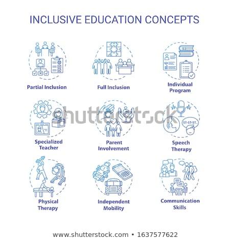 Educação inválido crianças estudar escolas aprendizagem Foto stock © RAStudio