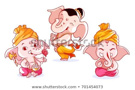 cute lord ganesha design for ganesh chaturthi Stock photo © SArts