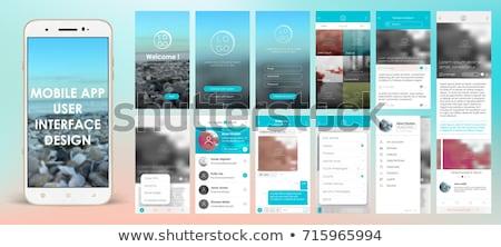 Wektora komórkowych app użytkownik interfejs szablon Zdjęcia stock © tele52