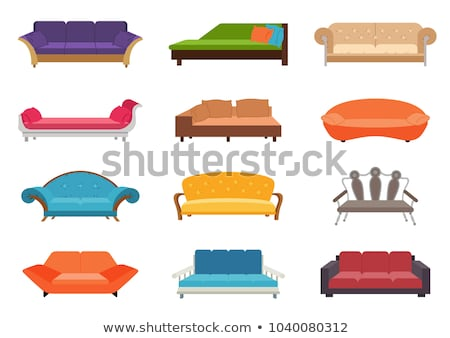 soft furniture colorful seats sofa set vector stock photo © robuart
