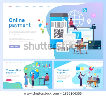Transaction Security Online Support Service Page Stock photo © robuart