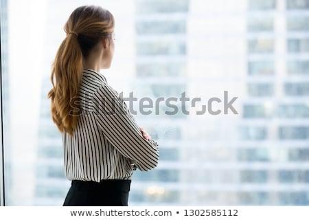 Genç kişi bakıyor ileri yeni fikir Stok fotoğraf © ra2studio