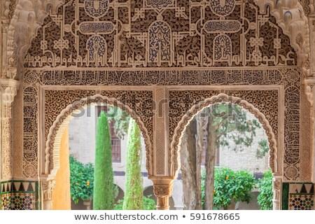 famoso · alhambra · palácio · Espanha · construção · paisagem - foto stock © borisb17
