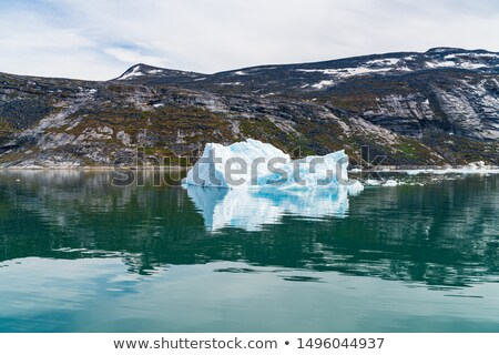 Global warming - Greenland Iceberg landscape of Ilulissat icefjord with iceberg Stock photo © Maridav