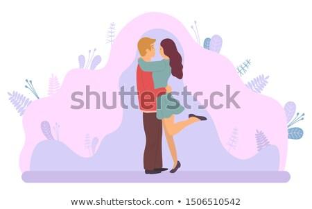 Dating paar man vrouw paars Stockfoto © robuart