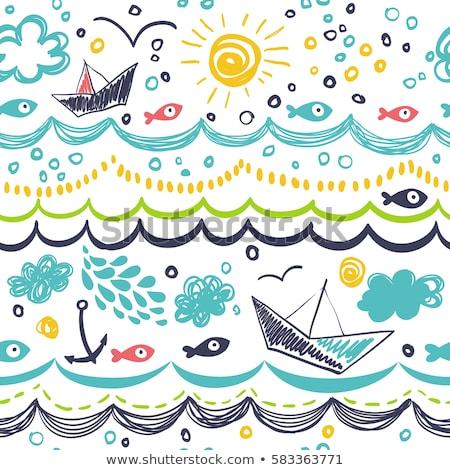 Design Sommer Strand Kinder Natur Stock foto © bluering
