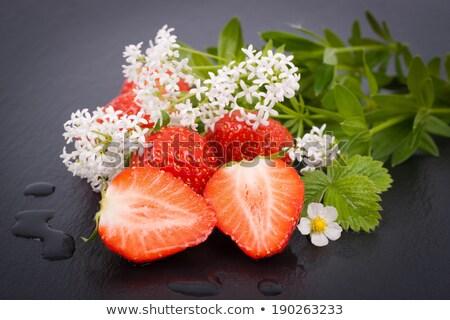 клубники · Sweet · воды · продовольствие · красный · клубника - Сток-фото © CarmenSteiner