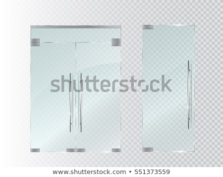 Glass Doors With Silver Handle And Frame Vector Stock photo © pikepicture
